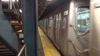 NYC Subway: Astoria-bound R160 (W) Leaving Whitehall Street (2017)