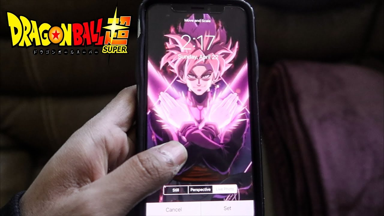 Goku Black Iphone X Live Wallpaper Youtube