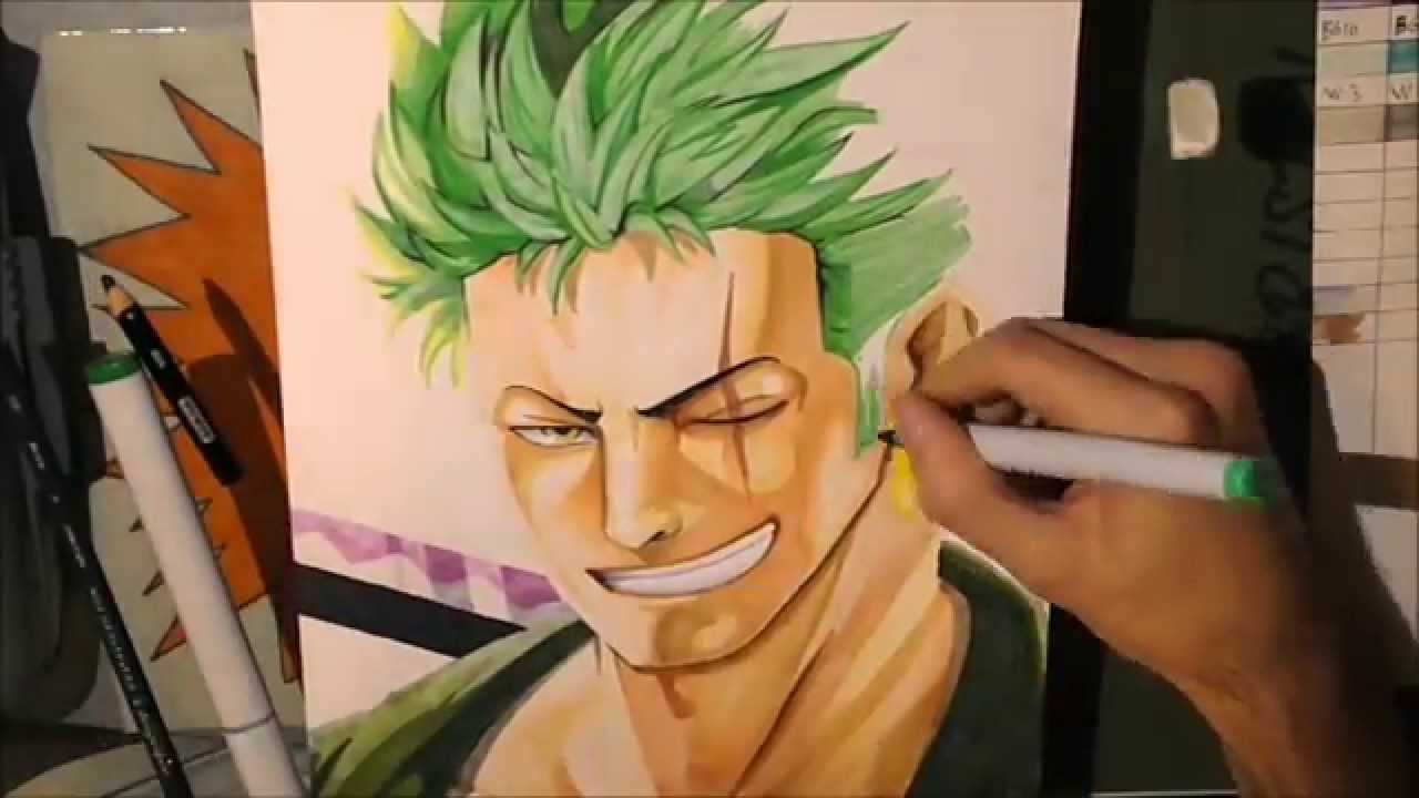 One Piece How To Draw Realistic Zoro Comment Dessiner Zoro Reel