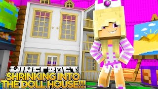 TRAPPED IN THE DOLL HOUSE w/ LITTLE DONNY!!! - Minecraft - Baby Leah Adventures.
