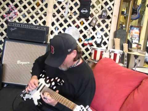 Custom Buddy Guy tribute strat guitar demo with Rich Rack at Sixx Gun Music