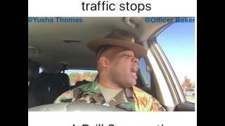 When a Police Officer traffic stops a Drill Sergeant! W/ Yusha Thomas thumbnail