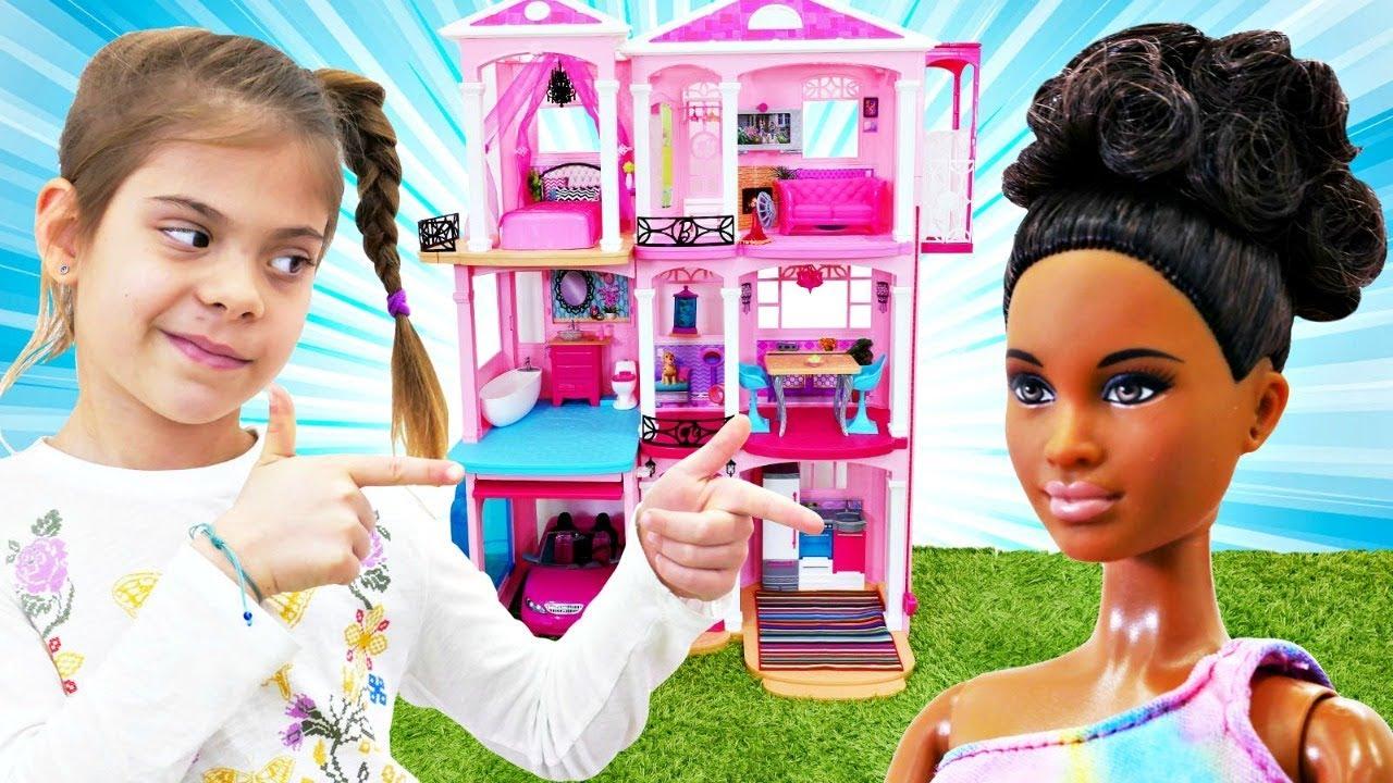 Мультики для девочек. Дом мечты для Барби. Играем в куклы ...