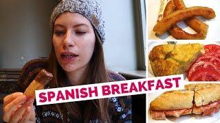 Spanish Breakfast in Granada, Spain