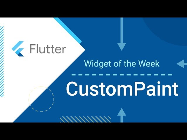 CustomPaint (Flutter Widget of the Week)