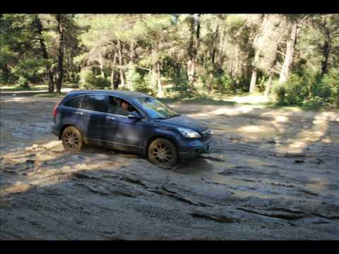HONDA CRV off road - tatoi 21/2/2010 - YouTube