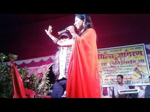 Basaha chadhal shiv live song by pooja jha  ( Raju Sound bahera )