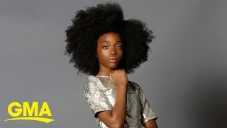 This 11-year-old professional model is empowering girls everywhere l GMA Digital