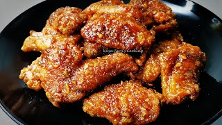 THE SECRET TO MĄKE KFC STYLE HONEY GARLIC BUTTER CHICKEN WINGS MADE EASY | A MUST TRY RECIPE!!!