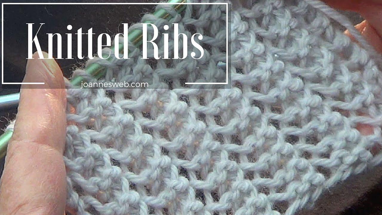 Rib Stitch Knitted Rib Stitch Super Easy And Fast Youtube