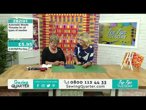 Sewing Quarter - Top Tips Tuesday - 29th August 2017