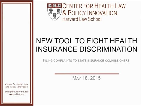Webinar: A new tool to fight health insurance discrimination