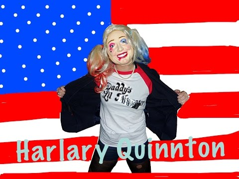 Harley Quinn  Hillary Clinton = Harlary Quinnton Halloween Tutorial