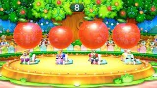 Mario Party 10 - All Minigames - Mario vs Luigi vs Princess Peach vs Wario and Waluig