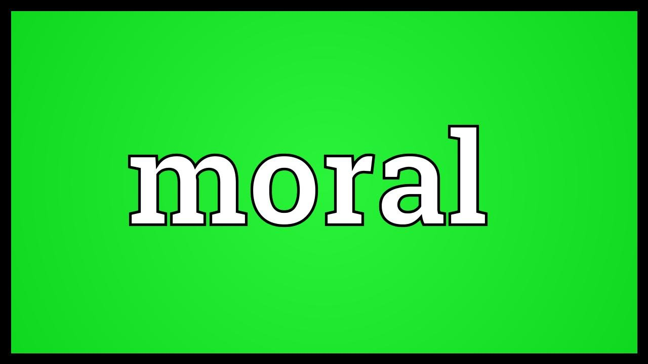 Moral Meaning Youtube