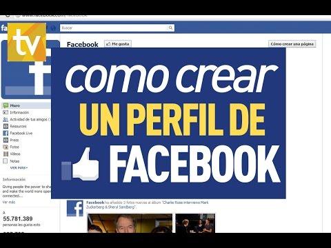 Como Crear una cuenta - Perfil de facebook