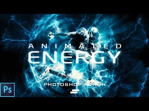 Animated Energy Photoshop Action - How to create Energy lighting effect in Photoshop