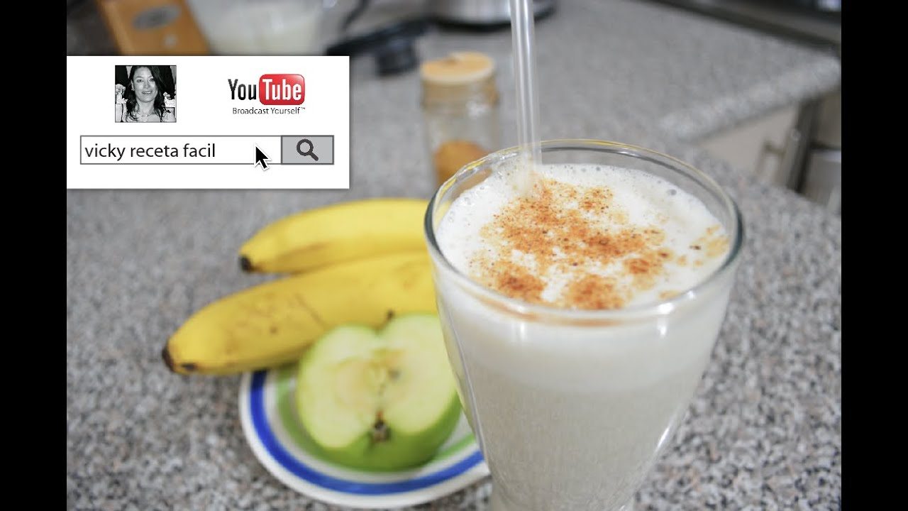 Batido de banana y manzana para adelgazar