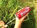 How To Make a Mini Bow and Arrow With Coca Cola