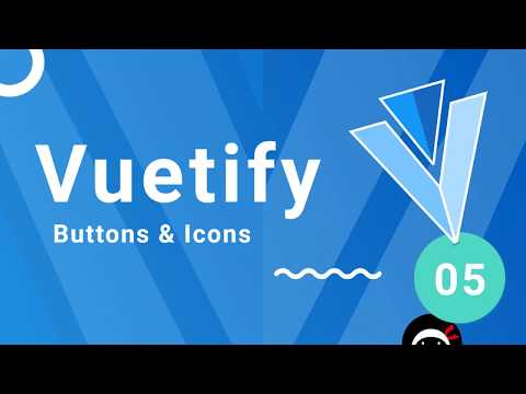 Vuetify Tutorial #5 - Button & Icons - YouTube