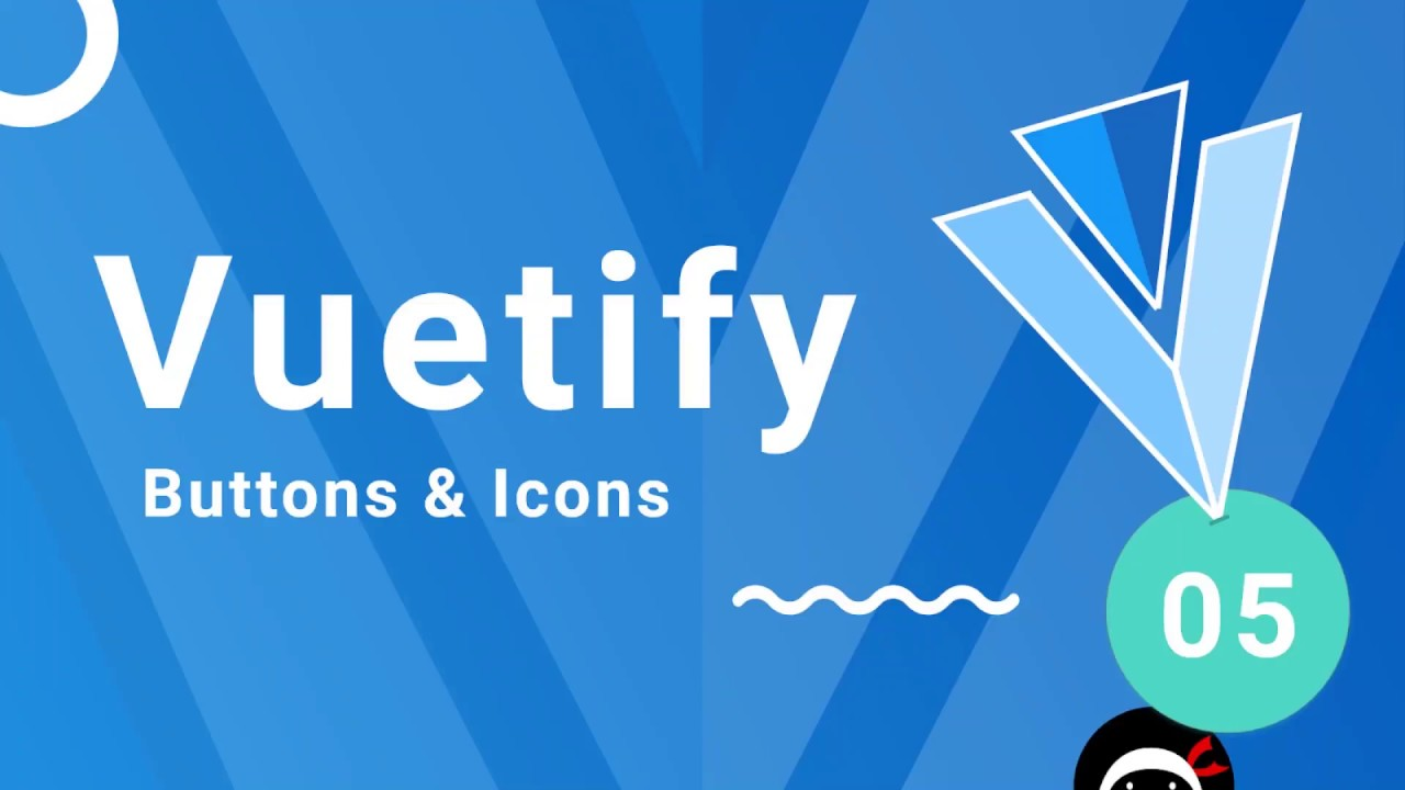Vuetify Tutorial #5 - Button & Icons