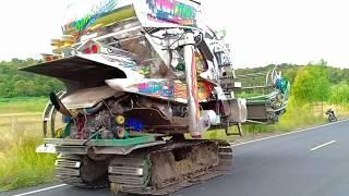 รถเกี่ยวตู้แอร์-เดินบนถนนลาดยางเร็วมากๆๆๆๆๆ-combine-harvester