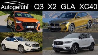 Audi Q3 vs BMW X2 vs Mercedes GLA vs Volvo XC40 Comparison Best Compact Premium SUV