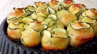 Zucchini Garlic Rose Bread Recipe