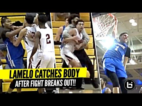 WATCH: LaMelo Ball's return from injury for Spire marred by fight