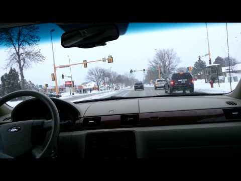 Winter in April in Fargo ND