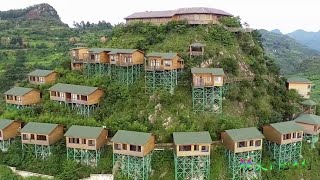 There are more than 30 villas built on a mountain