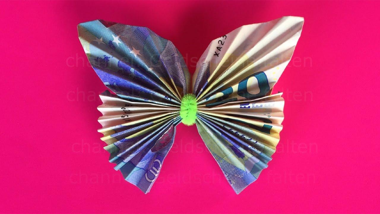 Geldscheine Falten Schmetterling Einfachen Schmetterling Aus Geld