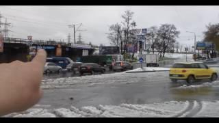 Запорожье . Непогода . Ветер . Снег .Поваленные деревья .19.04.2017.