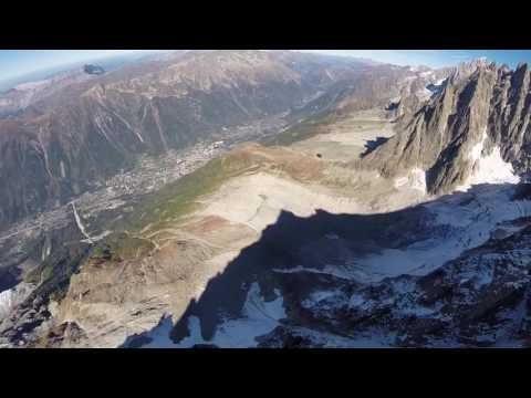 Eric Dossantos Chamonix Wingsuit Tree Line crash is intense