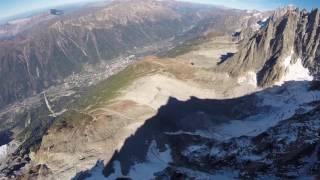 Eric Dossantos Chamonix Wingsuit Tree Line (crash)