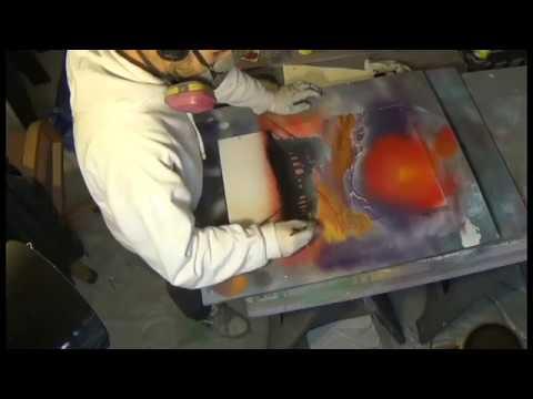 spray paint art- summer time in rome- euro style spraypaint art diy 3d full length