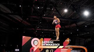 Yul Moldauer (USA) VT - 2019 Worlds Stuttgart -  Podium Training