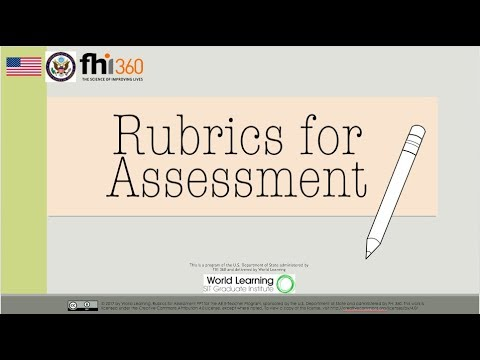 Rubrics for Assessment