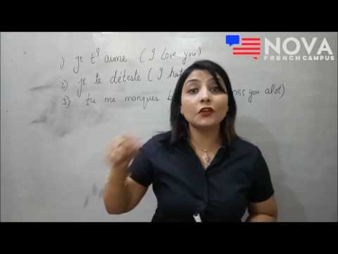 French classes in Amritsar Nova English & French Campus. How to say I Love You in French