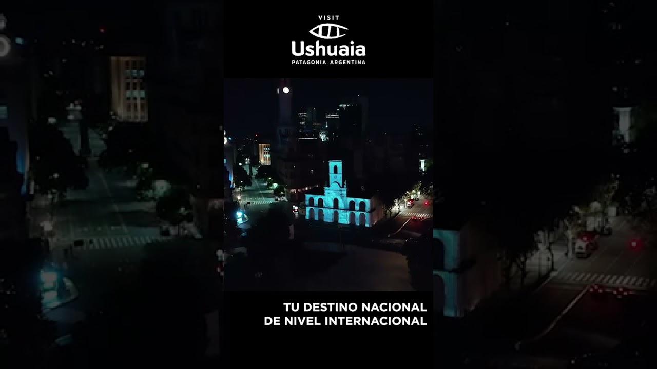 LA MUNICIPALIDAD DE USHUAIA PRESENTÓ EL DESTINO CON UN MAPPING EN EL CABILDO DE BUENOS AIRES