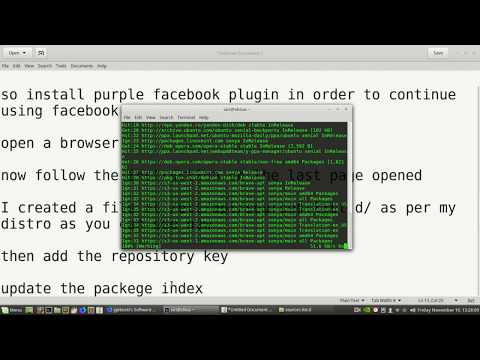 How To Connect Facebook Messenger To Pidgin IM In Linux Mint And Ubuntu (2017)