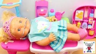 Bebés Nenuco HERMANITAS TRAVIESAS Naia va al DENTISTA lleva brackets   RUTINA de TARDE después Cole