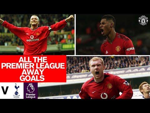 Every Premier League goal at Spurs | Giggs, Beckham, Rashford & more | Tottenham v Manchester United
