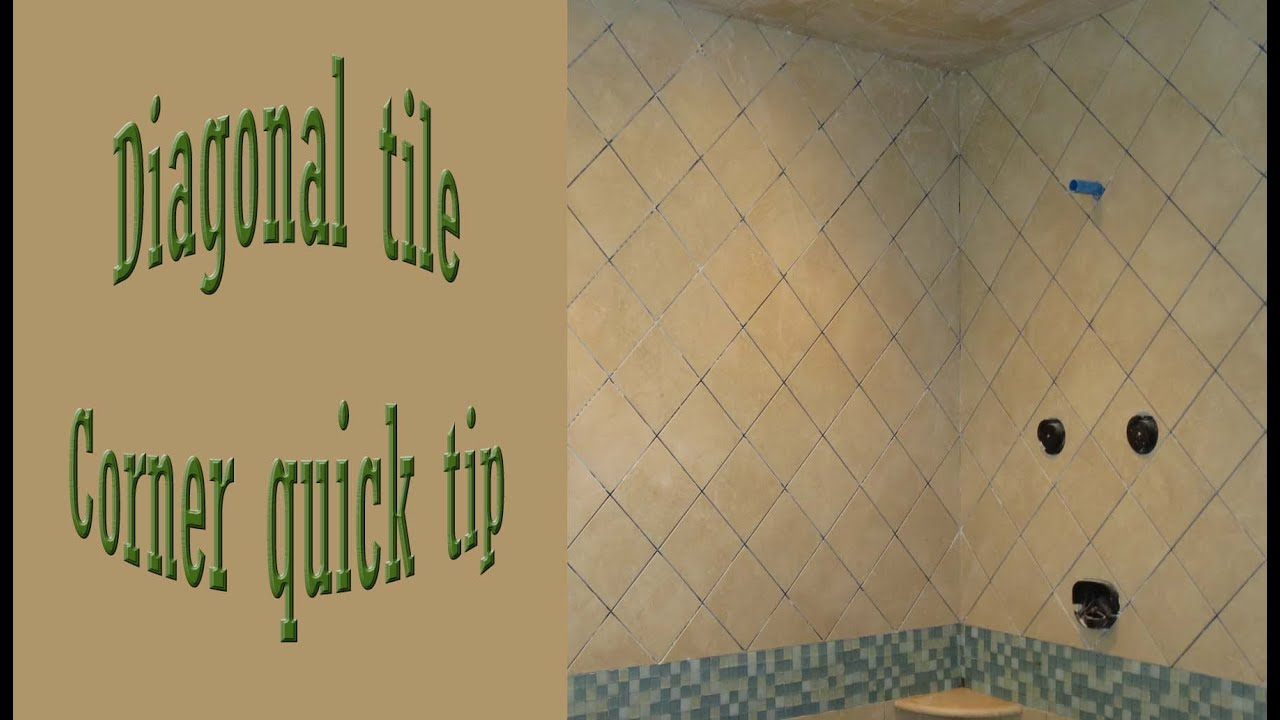 quick tip to help with diagonal corners on walls tile