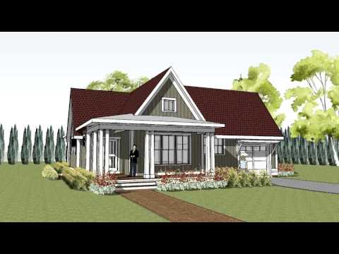 Simple yet unique cottage house plan with wrap around porch - Hudson Cottage