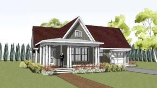 Simple Yet Unique Cottage House Plan With Wrap Around Porch - Hudson Cottage