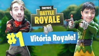 PRIMEIRO JOGO, PRIMEIRA VITÓRIA ROYALE!!!   Fortnite Battle Royale (Crossplay PC-PS4)