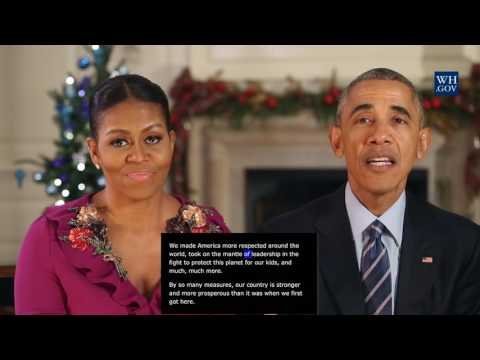 President Obama -  video caption -  Dec 24th, 2016 - Merry Christmas and Happy Holidays