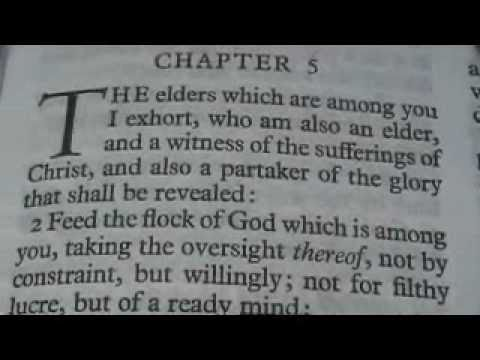 1 Peter 5 King James Holy Bible