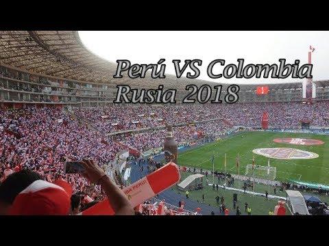 Perú  vs Colombia 1-1 / Estadio Nacional Desde la tribuna / Fútbol reacción